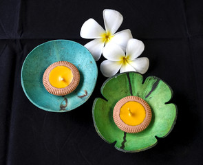 Candle holder and soap dishes