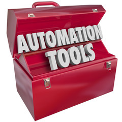 Automation Tools Toolbox Modern Technology Efficiency Productivi
