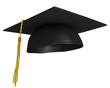 Square academic graduation cap, worn by college grads - 78028176