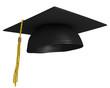 Leinwanddruck Bild - Square academic graduation cap, worn by college grads
