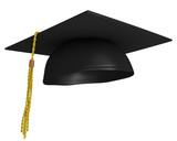 Square academic graduation cap, worn by college grads