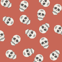 Sugar skull pattern illustration