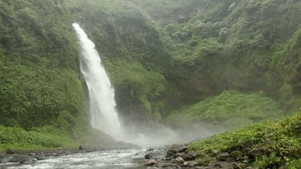 Cascada Magica, waterfall on Rio Malo, Ecuador