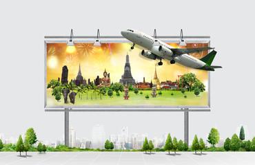billboard, travel concept