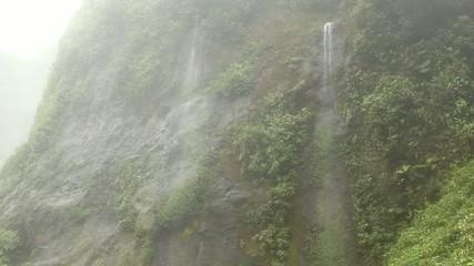 Very humid hillsides beside the Rio Malo, Ecuador