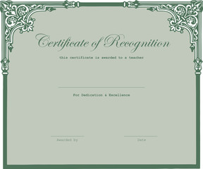 Certificate is awarded teacher