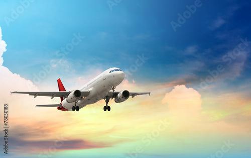Fototapeta airplane taking off