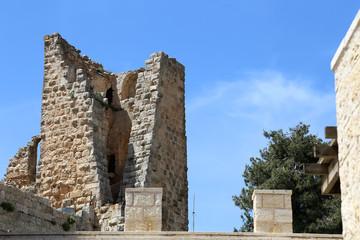 The ayyubid castle of Ajloun in northern Jordan