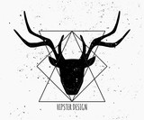 Deer Head Silhouette Design