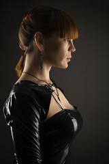 profile face of a beautiful woman