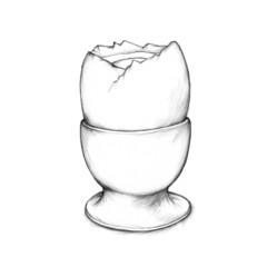 Gekochtes Ei