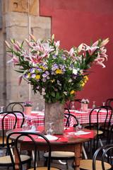 Typical French restaurant scene