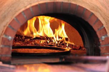 Pizza oven in restaurant