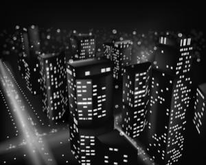 City at night. Vector illustration