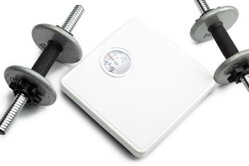hand weights and scale