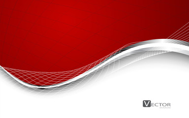 Stylish abstract red background. Vector