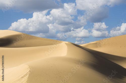 Fotobehang Woestijn Sand dunes in desert, Mingsha Shan, China