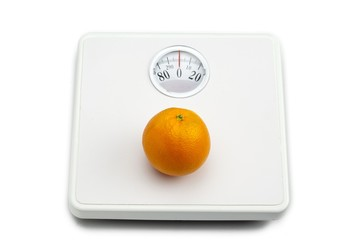 orange on weighing scale