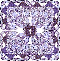 light lilac square decoration