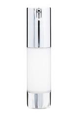 close up of facial serum bottle