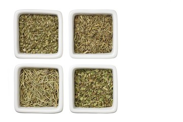 collections of green tea leaves