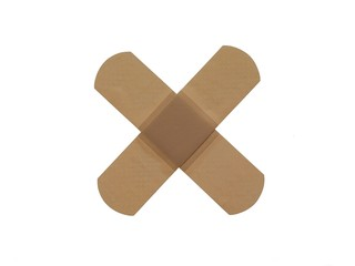 crossed band aid