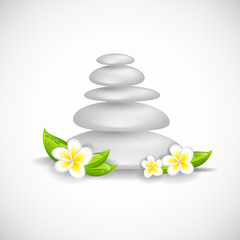 zen steine weiß