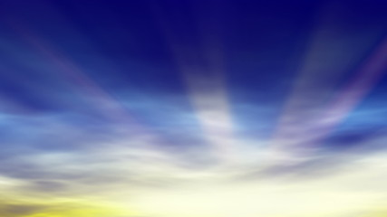 abstract background - morning sunrise with sunrays (looping)
