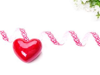 Herz mit Band, Glockenblume