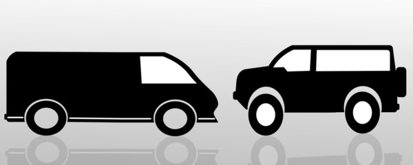Vector silhouette of the car.