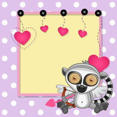Cupid Lemur with frame