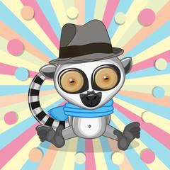 Lemur with hat