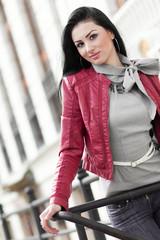 Fashion pretty woman posing, outdoors