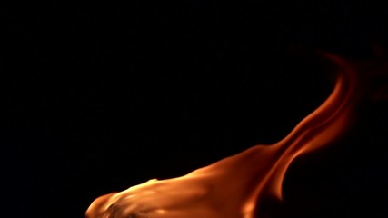 Feuer in Zeitlupe (400 fps)