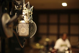 in the recording room