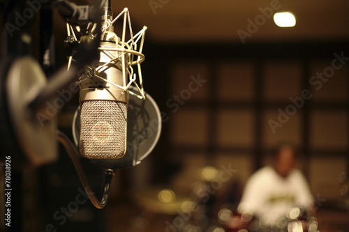 in the recording room - 78038926