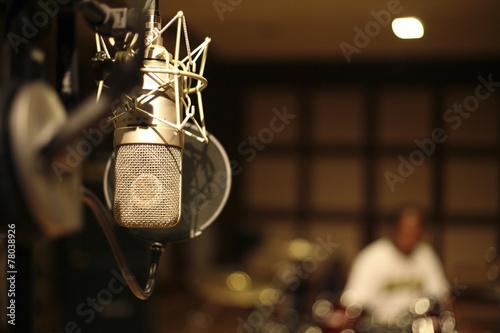 Leinwanddruck Bild in the recording room