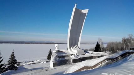 Ladya monument in Samara city. Russia