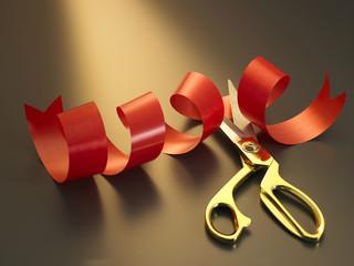 ribbon ang scissors