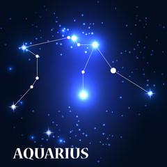 Symbol: Aquarius Zodiac Sign. Vector Illustration.
