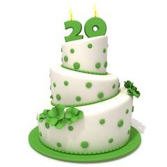 Birthday cake with number twenty