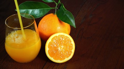 juice of fresh oranges