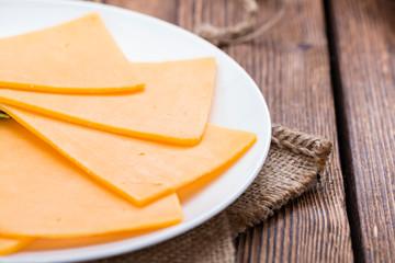 Portion of Cheddar Slices