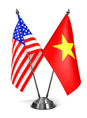 USA and Vietnam - Miniature Flags.
