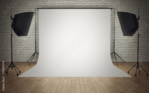 Leinwanddruck Bild Photo studio equipment