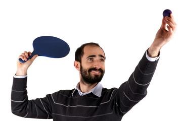 Man playing rackets