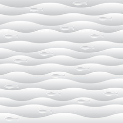 eps10 vector elegant white waves background illustration