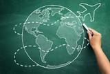 airplane travels around the world