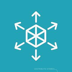 Content distribution concept - flat design icon