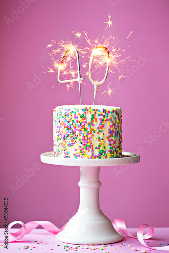 40th birthday cake - 78044535